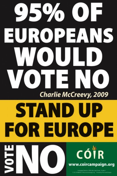 Irish 90 would vote no